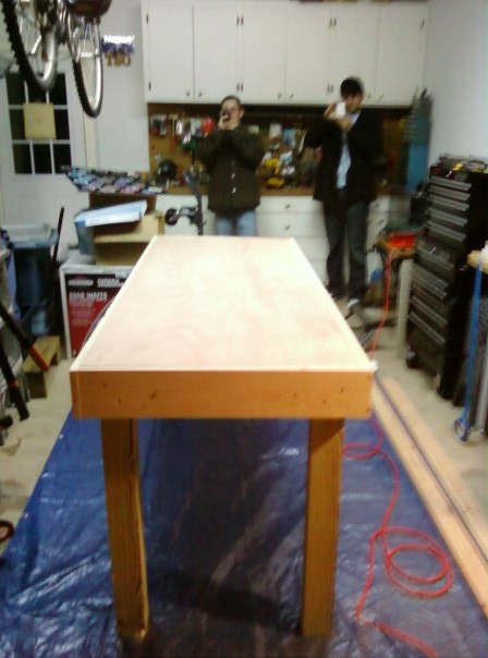 How To Build A Beer Pong Table Out Of A Door Frame Turek Woodshop